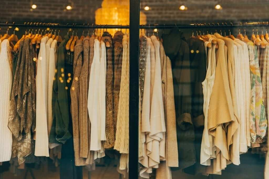 clothes window store