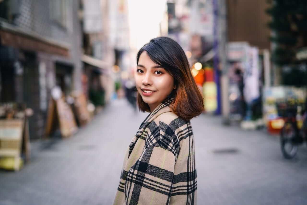 fashionable asian girl