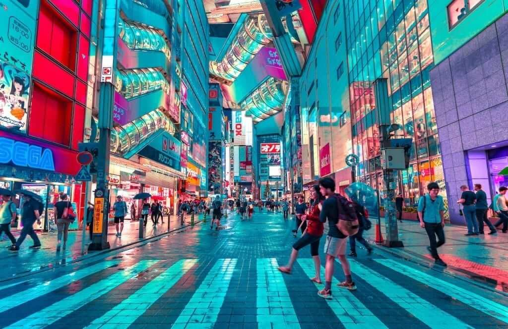 tokyo evening lights