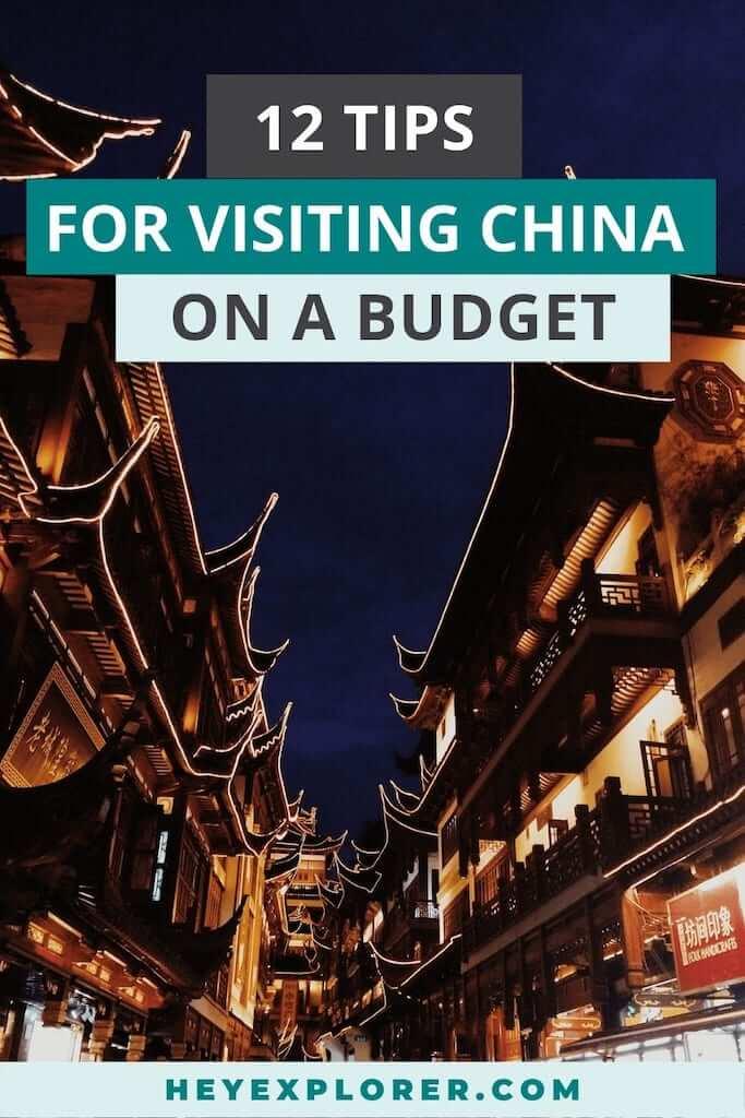 china on a budget