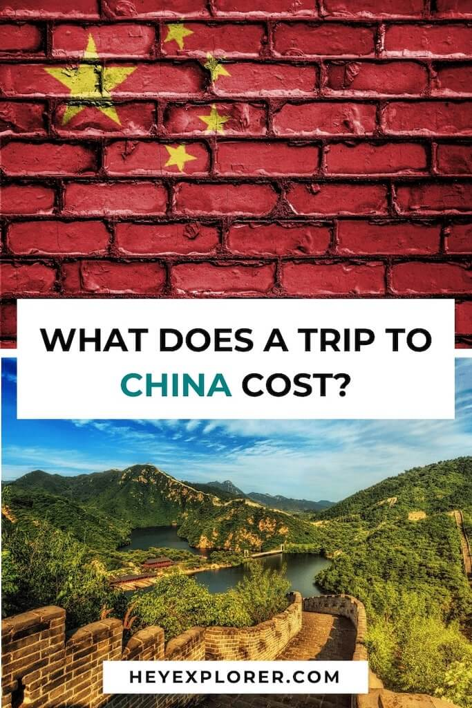 cost of trip to china