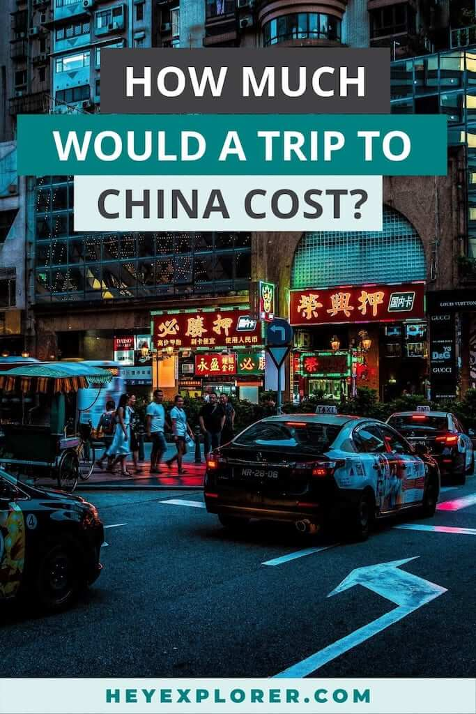 cost trip to china