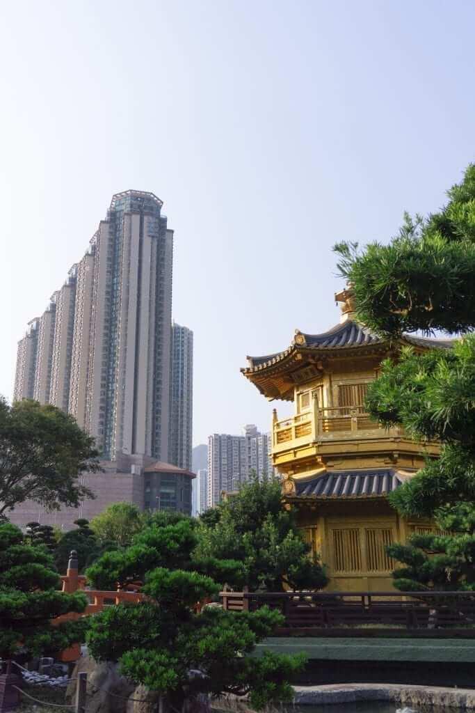 kong kong temple garden