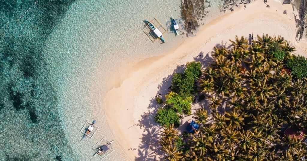 siargao beach aerial