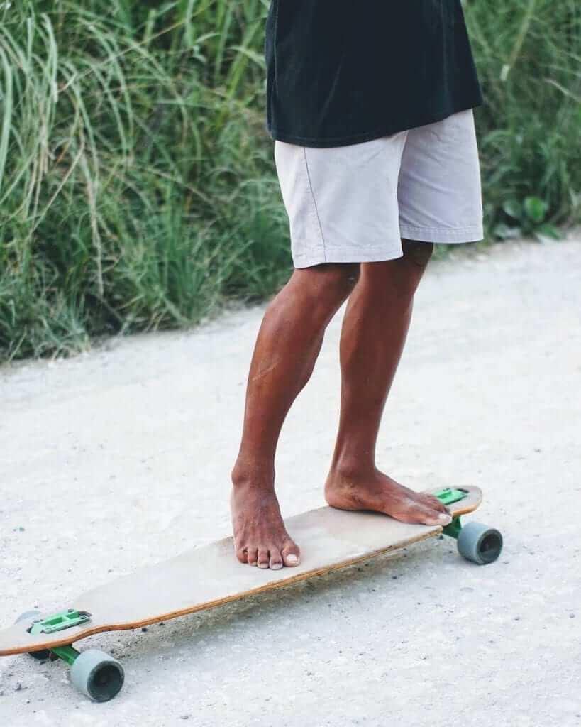 skateboard beach