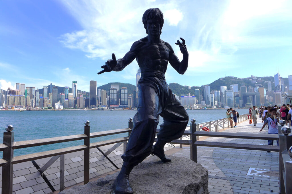Bruce Lee Sculpture at the Avenue of Stars, in Hong Kong