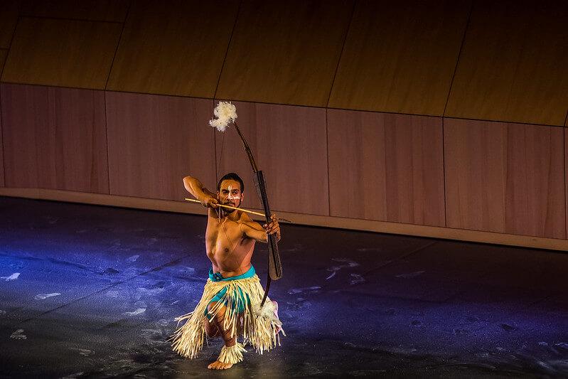 A performance at the Bangarra Dance Theatre
