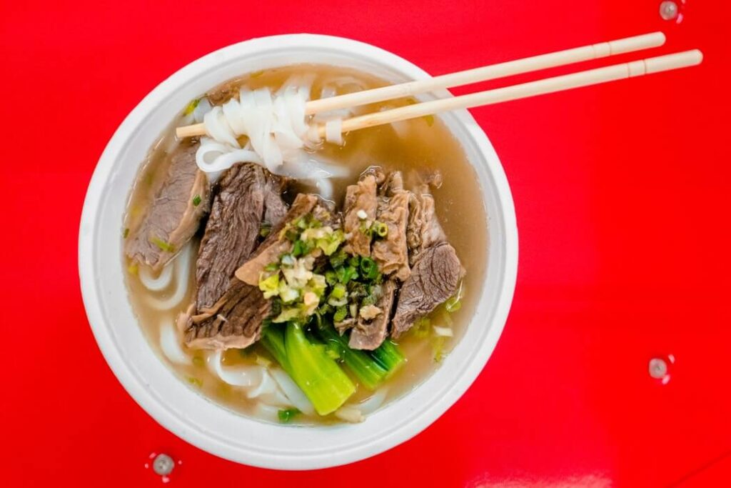 A bowl of Beef Brisket Noodles is a must-try in Hong Kong