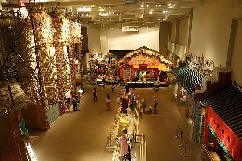Exhibits inside the Hong Kong Museum of History