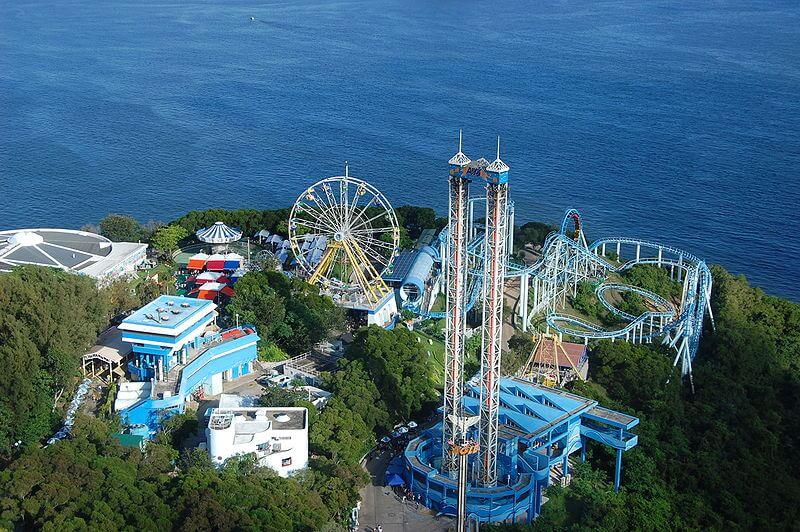 Aerial views of Ocean Park Hong Kong