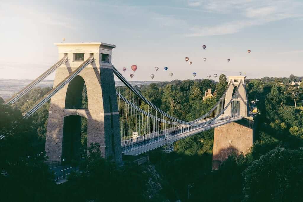 balloons over bridge bristol