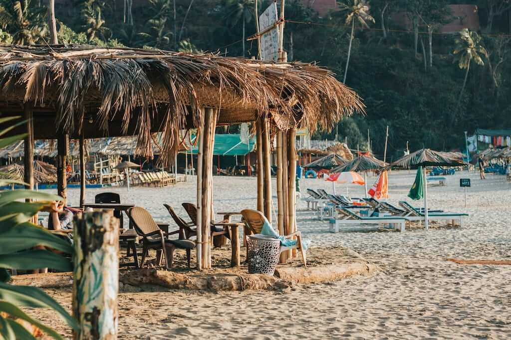 Shacks are a feature common to all beaches in Goa.