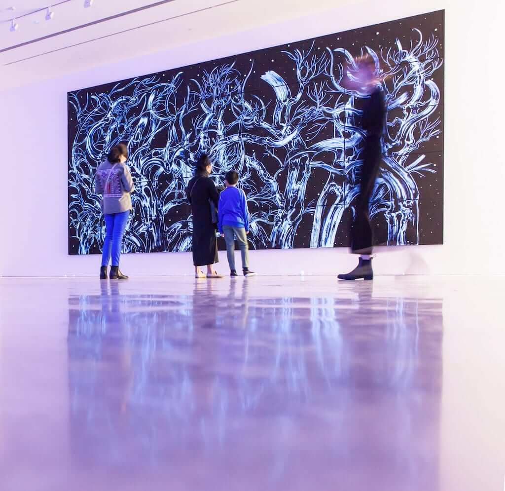 An artwork at the museum of contemporary art sydney