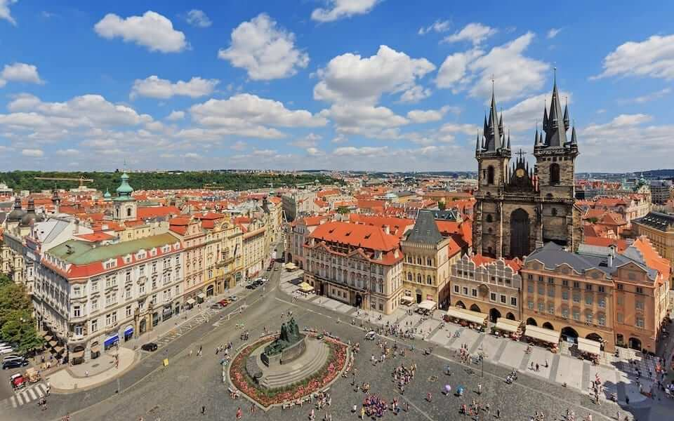 prague view old town hall