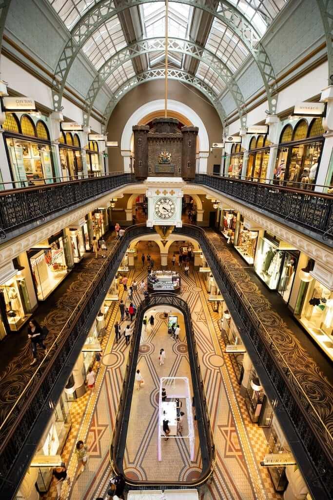 Inside the Queen Victoria Building in Sydney
