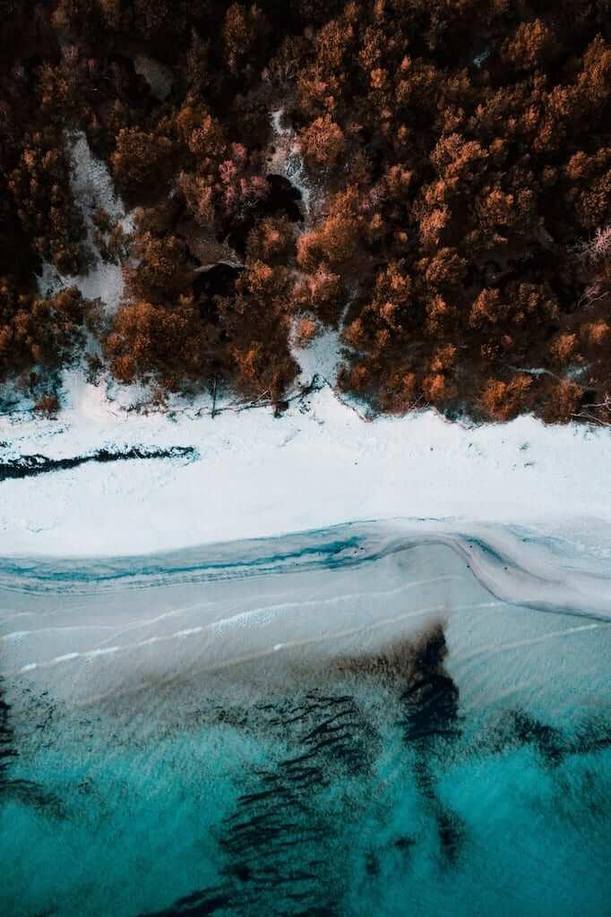 aerial coastline