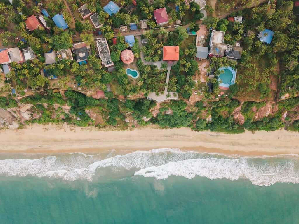 aerial view beaches