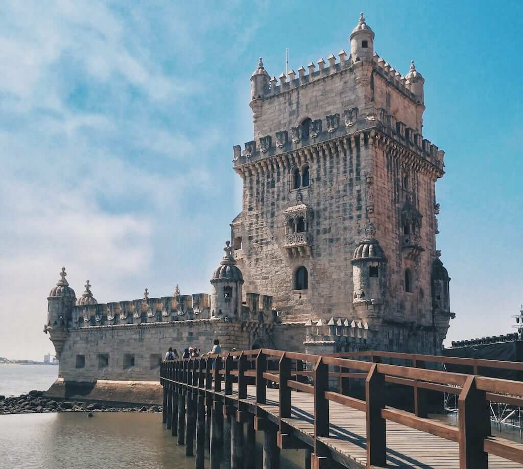 Belém Tower, which marks the Portuguese Age of Discoveries