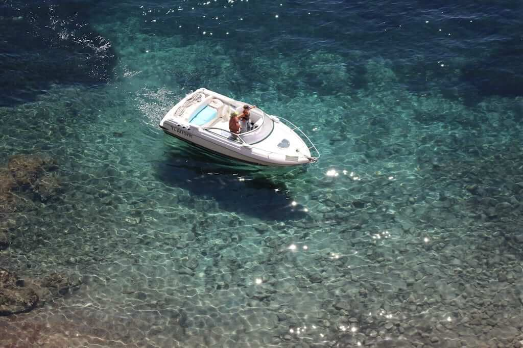 boat clear waters