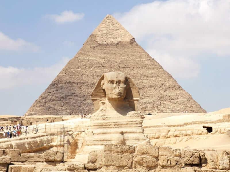 giza pyramids sphinx