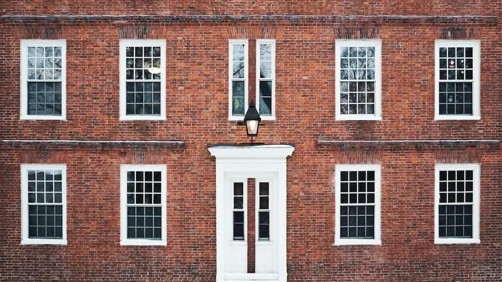 harvard university facade