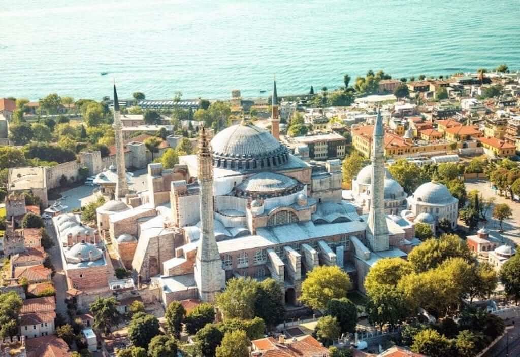 istanbul mosque aerial
