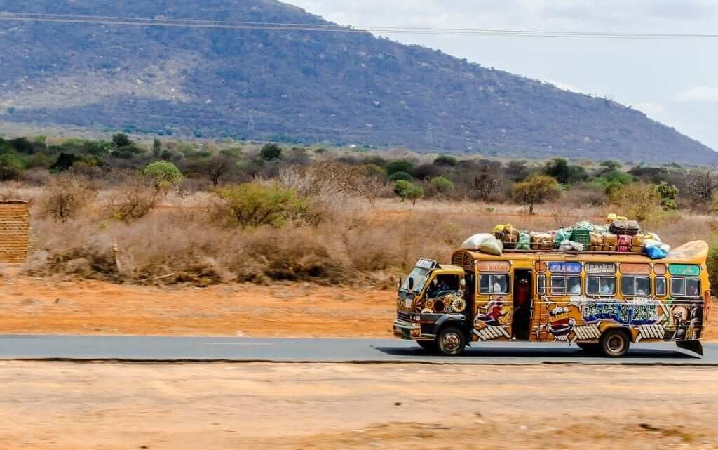 kenya colorful bus