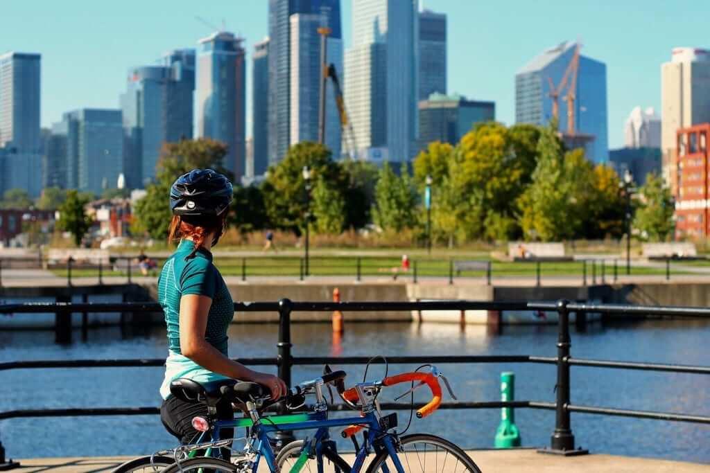 montreal cyclist girl