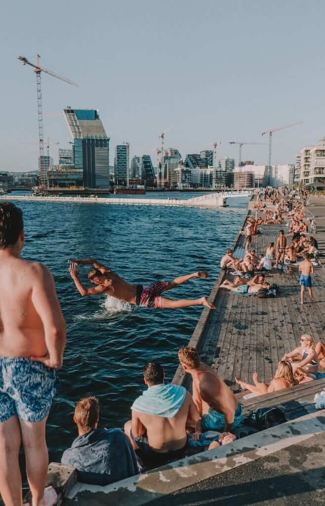 outdoors norway swim