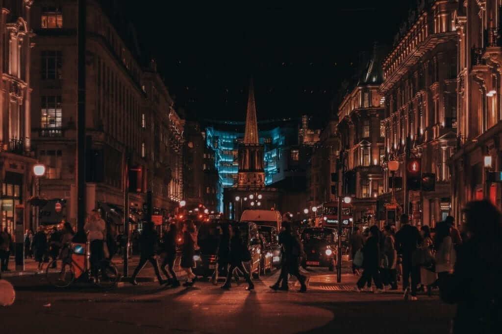 oxford street night