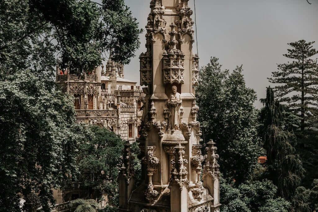 Quinta da Regaleira's main building, in Sintra, Lisbon
