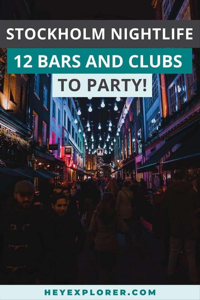 stockholm nightlife bars clubs