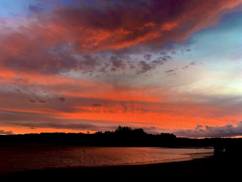 sunset coromandel