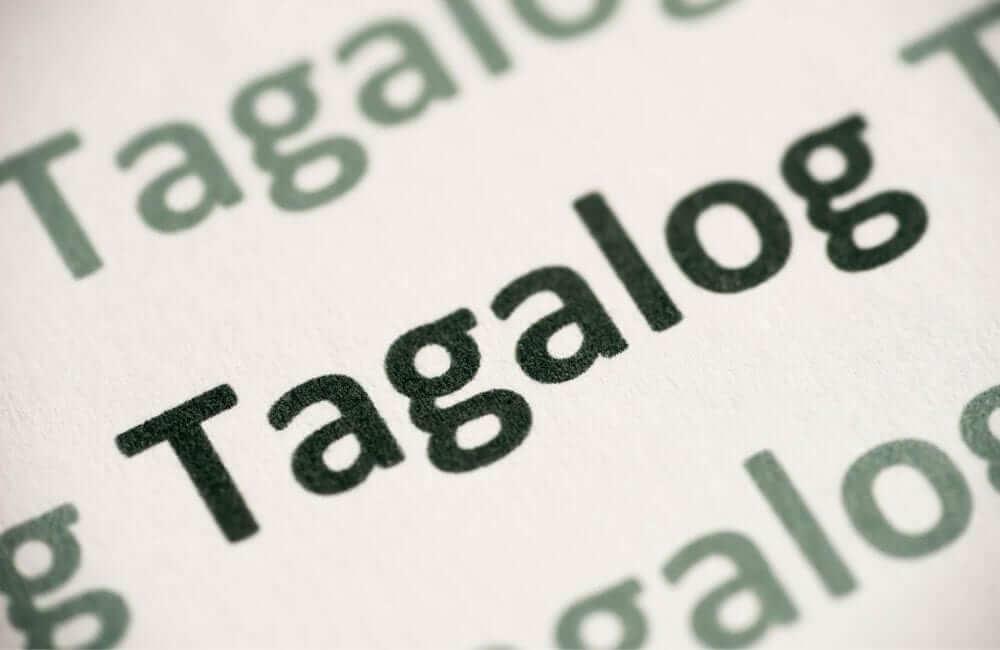 tagalog language philippines