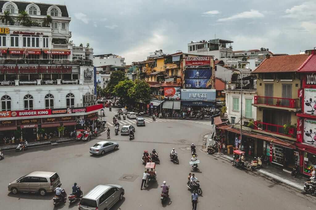 traffic street vietnam