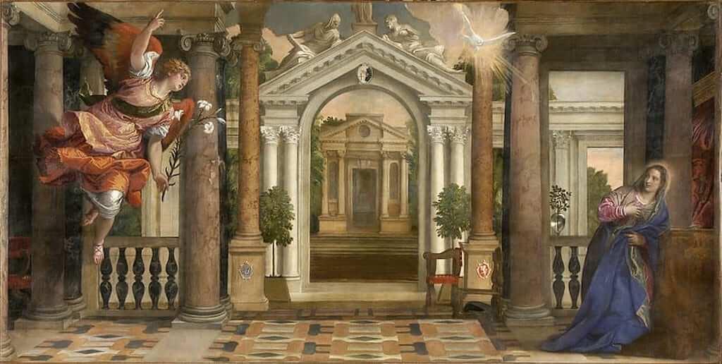 """""""Annunciation"""" in Gallerie dell'Accademia, Venice"""