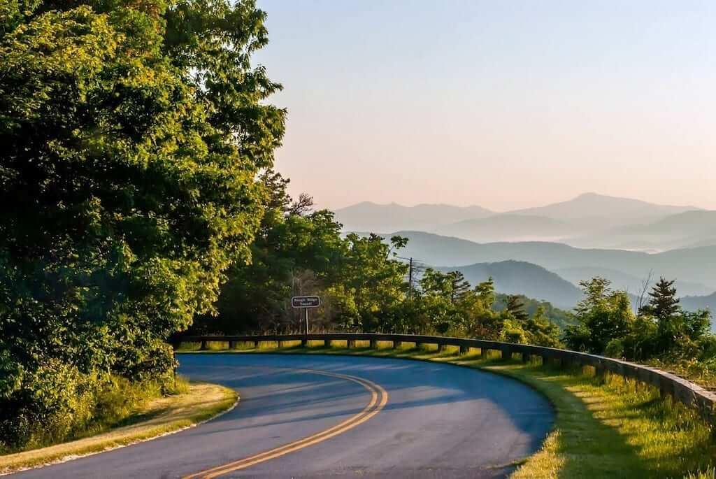 blue ridge parkway road