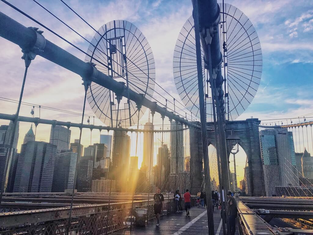 New York is famous for the Brooklyn Bridge