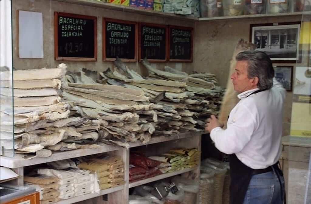 cod fish market stall