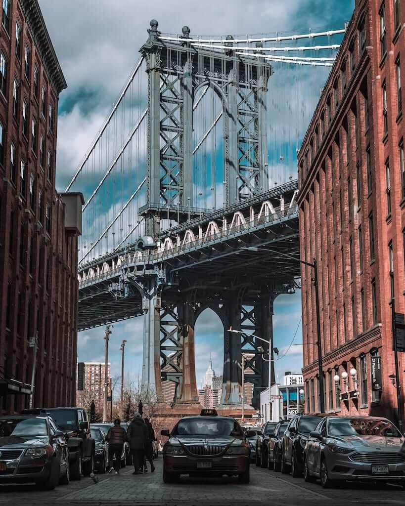 View of the Manhattan Bridge from DUMBO