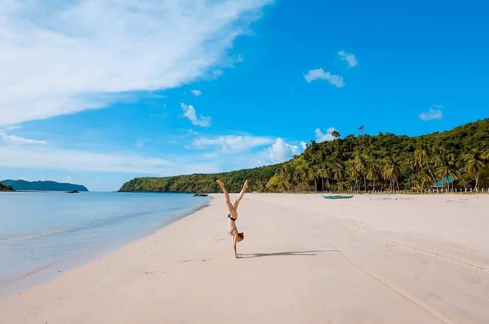 headstand beach
