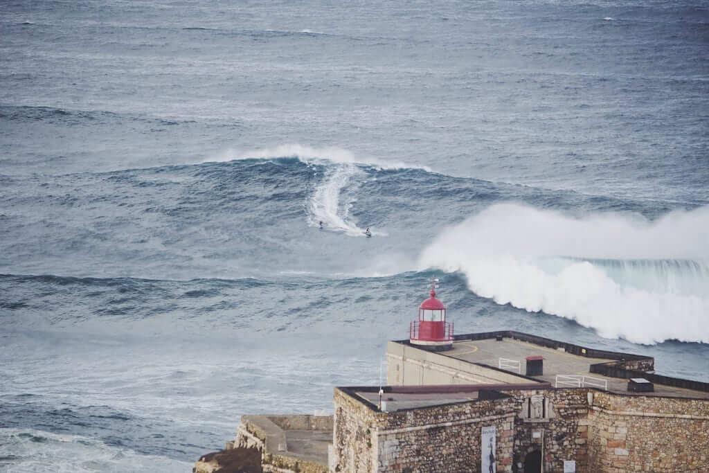 lighthouse waves