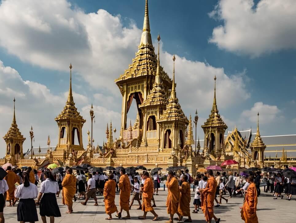 monks temple thailand