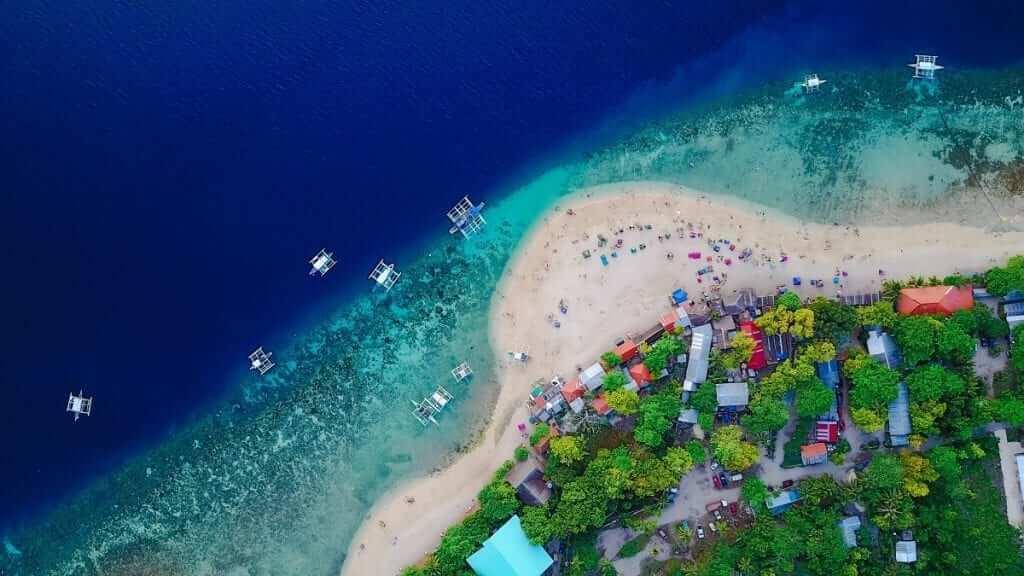 philippines beach aerial