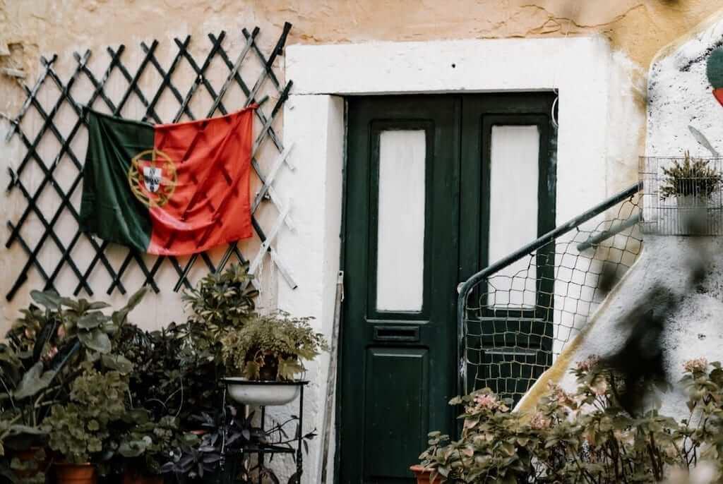 portugal flag house