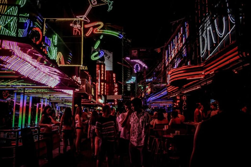 red light district thailand