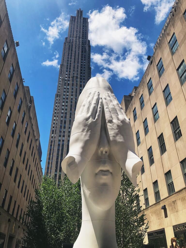 Art sculpture in Rockefeller Center