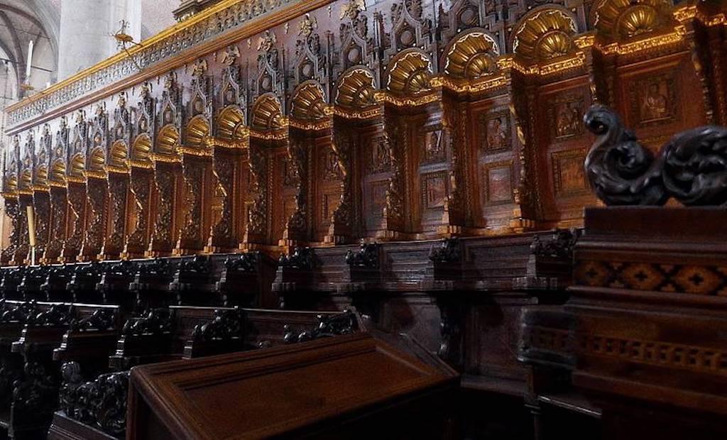 The choir stands at Santa Maria Gloriosa dei Frari, Venice