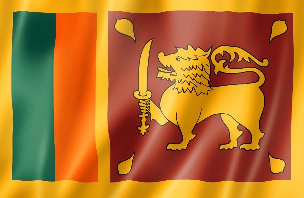 the lion flag, sri lanka