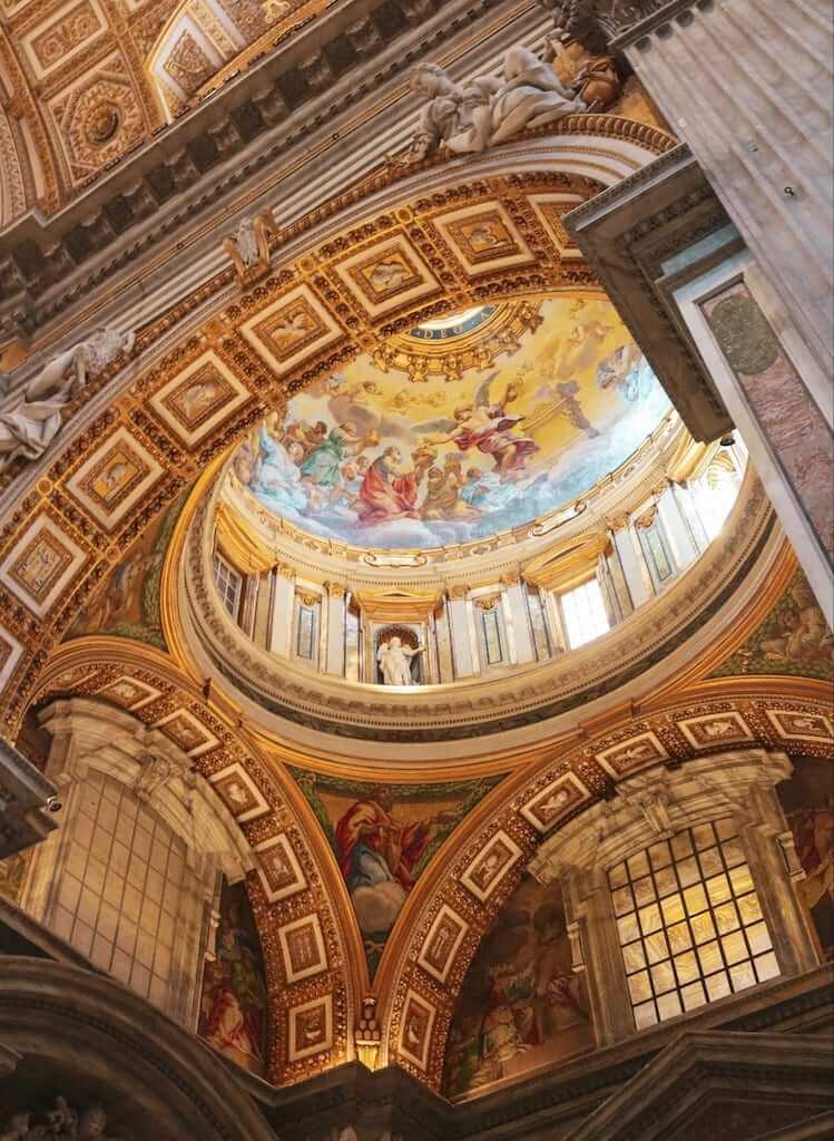 St Peter's Basilica ceiling, Vatican City